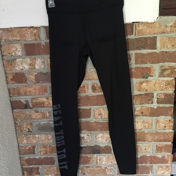 11616a6627171 Forever 21 Pants | Black Beat You To It Running Tights | Poshmark